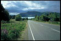 Auf der Straße nach Lake Tekapo