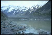 Terminal Lake am Fuße des Hooker Glacier