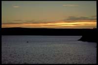 Sonnenuntergang auf Bärön