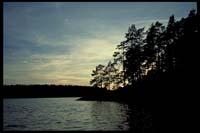 Sonnenuntergang vor Bärön