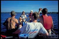 Live on Lake: Susi und Anita, vorne: Albrecht, Hanspeter und Martin