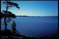 Blick von Mosviköya auf den Stora Le