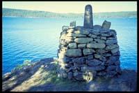 Grenzstein auf Mosviköya
