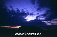 Ayers Rock nach Sonnenuntergang