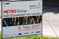 Plakat: Rhein Marathon Düsseldorf 2007